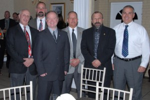 N.E.O.A. Directors at a Law Enforcement Memorial Dinner held every year to honor those Connecticut law enforcement officers who have fallen in the line of duty: President Lieutenant Michael Rinaldi (ret.), Police Officer Bruce Lovallo, Sergeant John Krupinsky, Detective Sergeant Ron Goodmaster (ret.), Vice President Sergeant Blake Stine (ret.) and Woodbridge Police Officer John Calabrese.