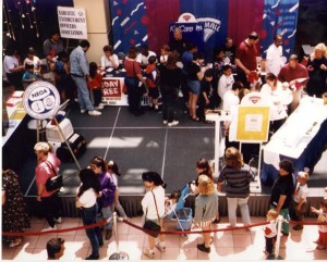 Over the years the N.E.O.A. has provided the Kids ID program and Kids ID DNA Kits to parents and families at community service events like this one at Westfield Trumbull Mall.